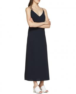 Atea Oceanie Navy Long Slip Dress