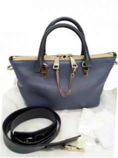 Chloe Two-Tone Mini Baylee Tote Bag