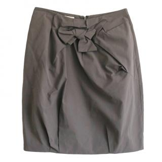 Marni Taupe Bow Detail Skirt