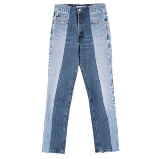 E.L.V Denim Two Tone Twin Denim Blue Jeans
