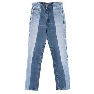 E.L.V Denim Two Tone Twin Denim Blue Jeans