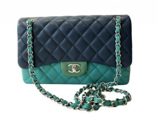 Chanel Tri-Colour Lambskin Jumbo Flap Bag