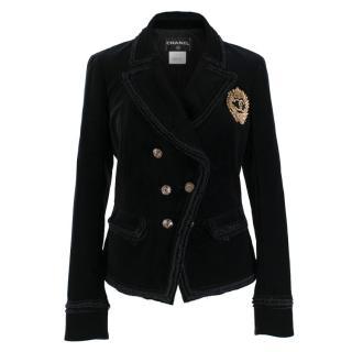 Chanel Black Velvet Runway Jacket - As worn by Claudia Schiffer