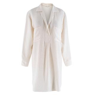 Marie France Van Damme Silk Ivory Tunic