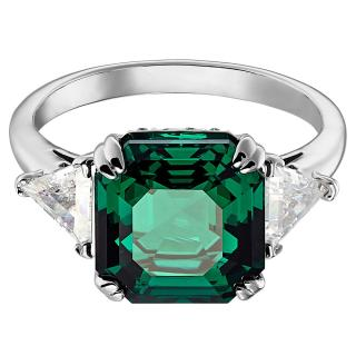Swarovski Attract Cocktail Ring in Emerald Green