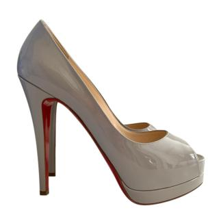 Christian Louboutin Grey Patent Leather Very Prive 120