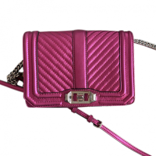 Rebecca Minkoff Metallic Pink Quilted Shoulder Bag
