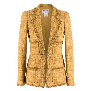 Chanel Marigold Tweed Single Breasted Fantasy Jacket