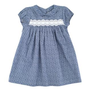 Cairenn Foy Poppy Style Girls Dress in Navy Leaf