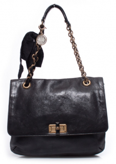 Lanvin black Leather Happy Shoulder Bag