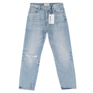 Frame Le Original High-Rise Straight-leg Blue Jeans