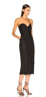 Mara Hoffman strapless black Diaz Midi Dress