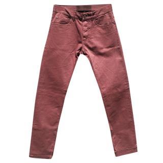 Dolce & Gabbana Men's Burgundy Jeans