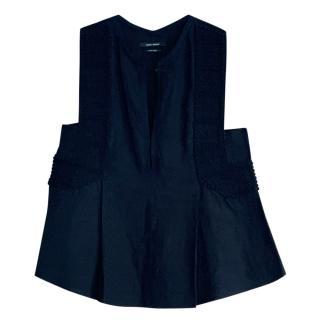 Isabel Marant Black Linen Sleeveless Top