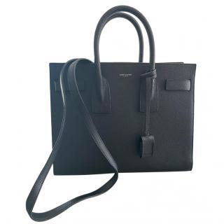 Saint Laurent Black Small Sac Du Jour Tote Bag