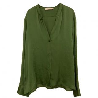 Stella McCartney Green Silk Shirt