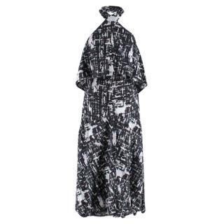 Chanel Printed Halterneck Apron Cotton Dress