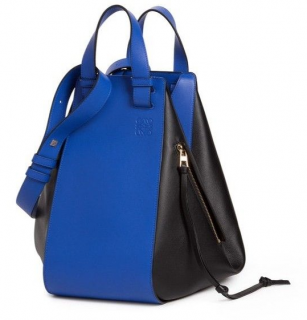 Loewe Hammock Bag in Electric Blue/Black