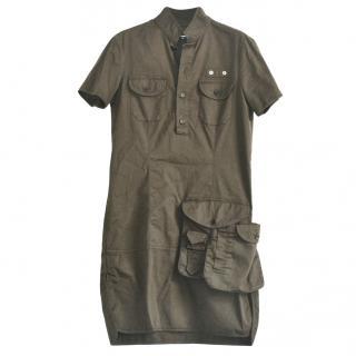 Dsquared2 khaki cotton mini dress