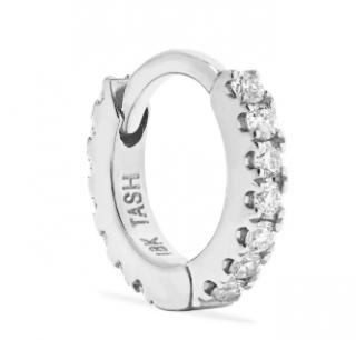 Maria Tash Mini 18-karat white gold diamond hoop earring