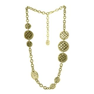 Chanel Runway Quilted Medallion Chain Belt/Necklace