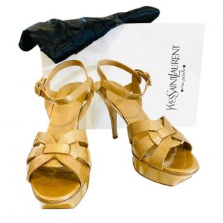 Saint Laurent Gold Tribute 105 Sandals