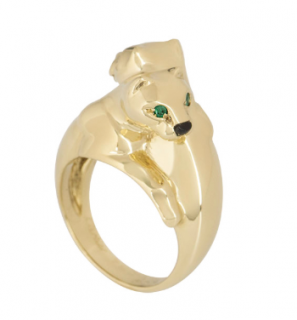 Cartier Yellow Gold Double Panthere Ring