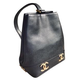 Chanel Black Vintage Timeless Shoulder Bag