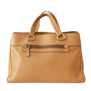 Prada Caramel Leather Tote Bag