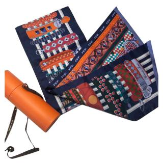 Hermes Multi-Coloured Collier Print Silk Scarf