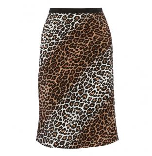 Elizabeth and James Adina leopard-print silk skirt