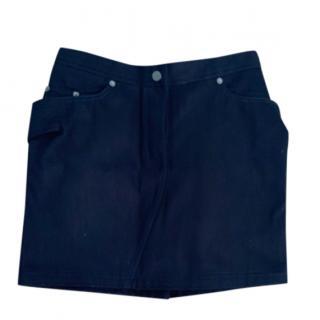 Chalayan navy mini skirt
