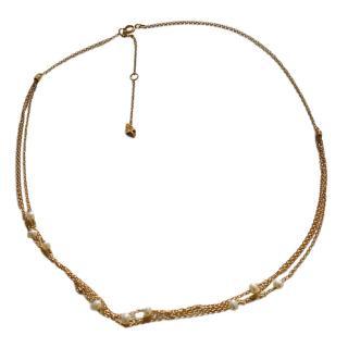 Loren Stewart 14kt Gold Multi-Strand Pearl Necklace
