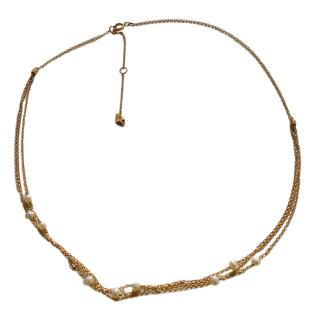Loren Stewart 14kt Gold Multi-Strand Pearl Necklace