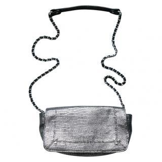 Jerome Dreyfuss Bobi Metallic Lizard Print Shoulder Bag