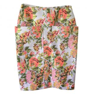 Stella McCartney Floral Brocade Pencil Skirt