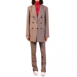 Stella McCartney Grey Check Double Breasted Jacket