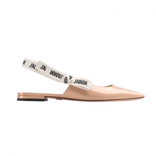 Dior Nude Patent J'adior Slingback Flats