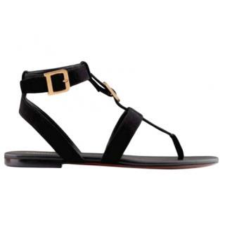 Dior D Buckle Suede Sandals