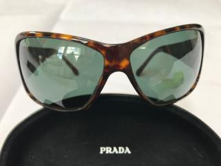 Prada Tortoiseshell Oversize Sunglasses