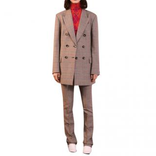 Stella McCartney Grey checked Tailored Trousers