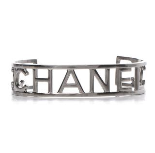 Chanel Ruthenium Logo Cuff
