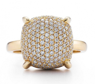 Tiffany & Co. Sugar Stack Diamond Bombe Ring