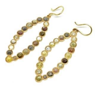 Yasuko Azuma Earthy Diamond Earrings