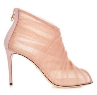 Dolce & Gabbana Blush Tulle Booties
