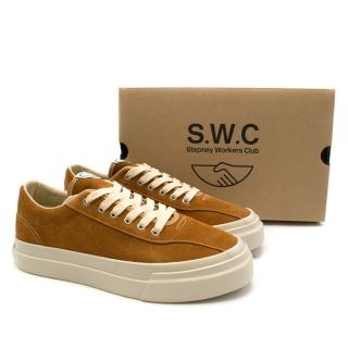 Stepney Workers Club Tan Dellow Suede Trainers