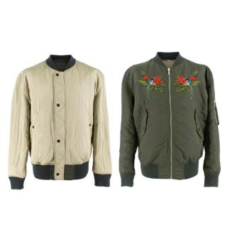 Gucci Green Reversible Blind For Love Embroidered Bomber Jacket
