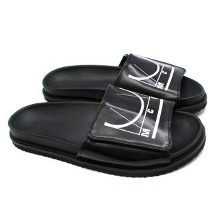 McQ by Alexander Mcqueen black slip-on-slides