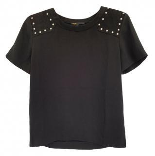 Maje black studded top