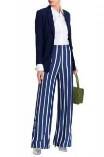 By Malene Birger Striped Jersey Lame Pants